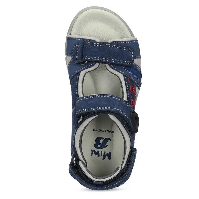 Chlapčenské sandále na suchý zips modré mini-b, modrá, 263-9605 - 17