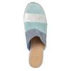 Kožené modré nazuváky na podpätku bata, modrá, 666-9625 - 17