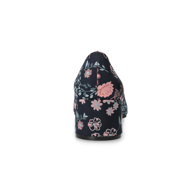 Kvetinové lodičky na nízkom podpätku bata-red-label, modrá, 629-5640 - 15