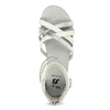 Bielo-strieborné dievčenské sandále mini-b, strieborná, 361-1605 - 17