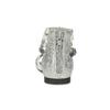 Bielo-strieborné dievčenské sandále mini-b, strieborná, 361-1605 - 15