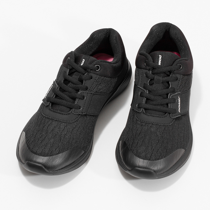 Čierne tenisky s mäkkou stielkou power, čierna, 509-6855 - 16
