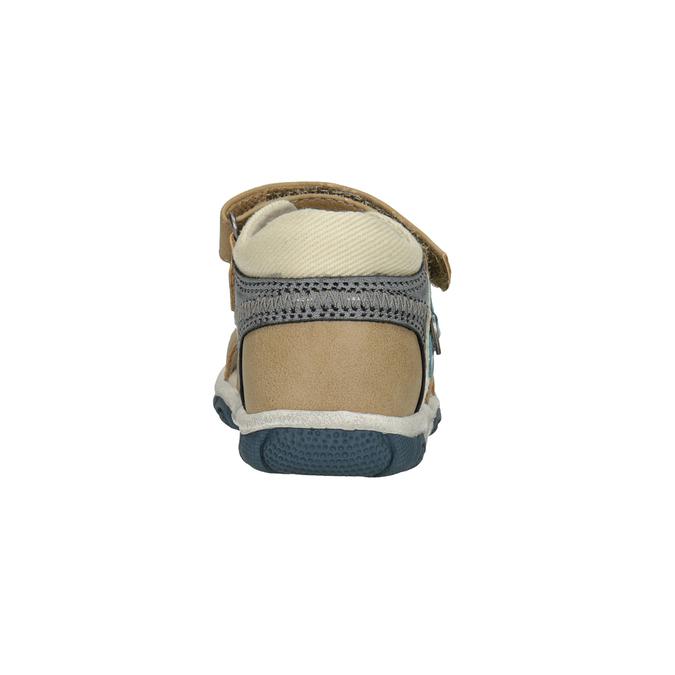 Detské sandále na suchý zips bubblegummers, hnedá, 161-3606 - 15