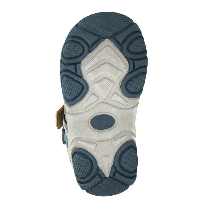 Detské sandále na suchý zips bubblegummers, hnedá, 161-3606 - 19