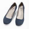 Kožené lodičky šírky H bata, modrá, 623-9602 - 16