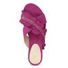 Dámske nazuváky s volánom a kamienkami bata, ružová, 569-5602 - 17