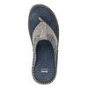 Prešívané kožené pánske žabky bata, šedá, 866-9845 - 17
