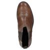 Dámska hnedá kožená Chelsea obuv vagabond, hnedá, 514-3002 - 17