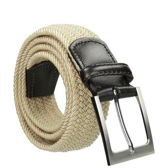 Pružný  béžový pánsky opasok bata, béžová, 959-8217 - 13