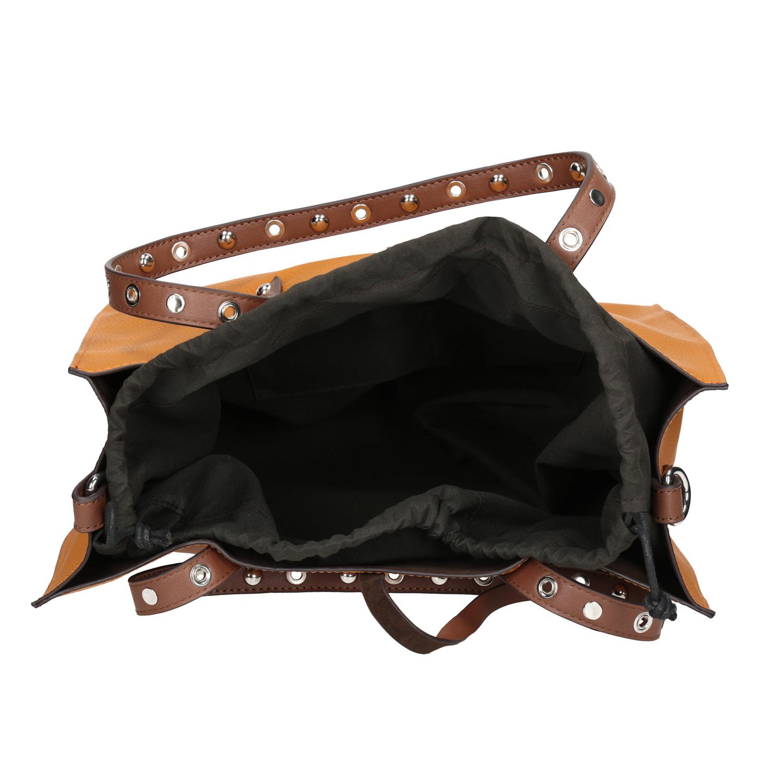 080df8f3b0 Bata Oranžová shopper bag kabelka s cvočkami - Všetky kabelky