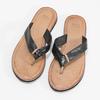 Čierne kožené dámske žabky bata, čierna, 566-6645 - 16