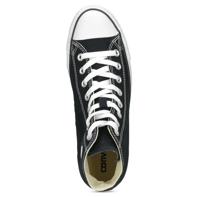 Pánske čierno-biele tenisky s gumovou špičkou converse, čierna, 889-6278 - 17