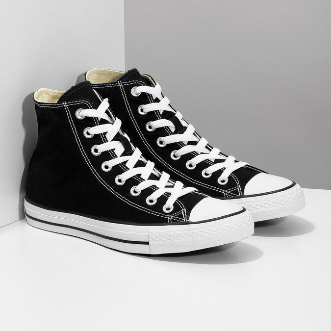 Pánske čierno-biele tenisky s gumovou špičkou converse, čierna, 889-6278 - 26