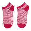 Dámske pruhované červené členkové ponožky bata, červená, 919-5816 - 26