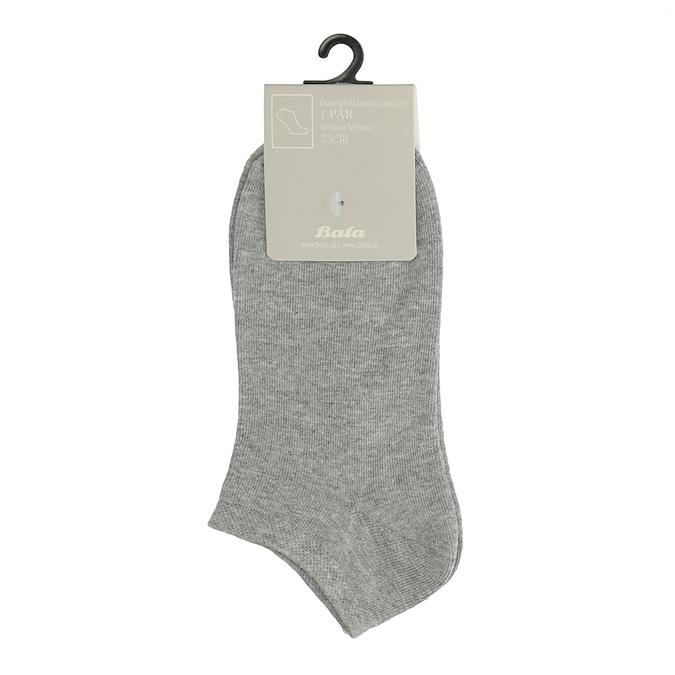 Dámske členkové šedé ponožky bata, šedá, 919-2813 - 13