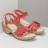 Sandále na stabilnom podpätku s kvetinami comfit, červená, 661-5613 - 26