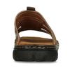 Pánske kožené nazuváky s prešitím bata, hnedá, 866-4615 - 15