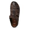 Kožené sandále so zavretou špičkou bata, hnedá, 866-4616 - 17