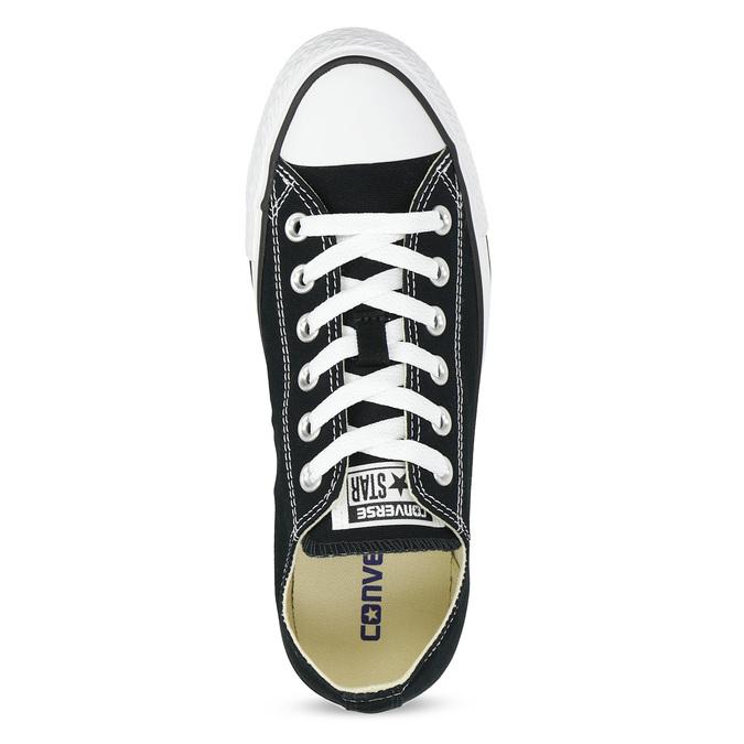 Dámske čierne tenisky s gumovou špičkou converse, čierna, 589-6279 - 17