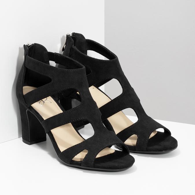 Čierne sandále na stabilnom podpätku insolia, čierna, 769-6617 - 26