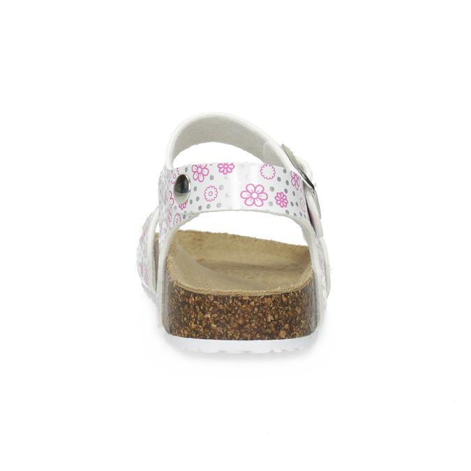 Dievčenské sandále s korkovou podrážkou mini-b, biela, 261-1212 - 15