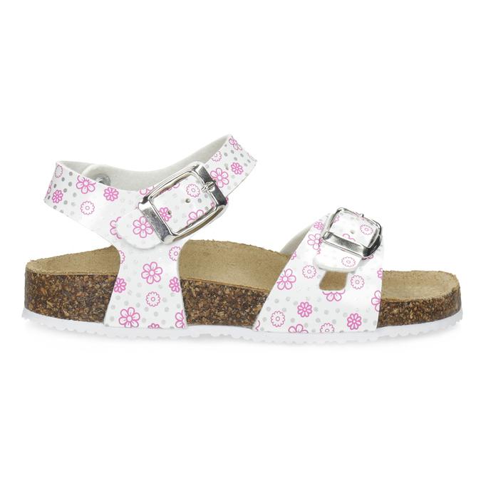 Dievčenské sandále s korkovou podrážkou mini-b, biela, 261-1212 - 19