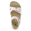 Dievčenské sandále s korkovou podrážkou mini-b, biela, 261-1212 - 17
