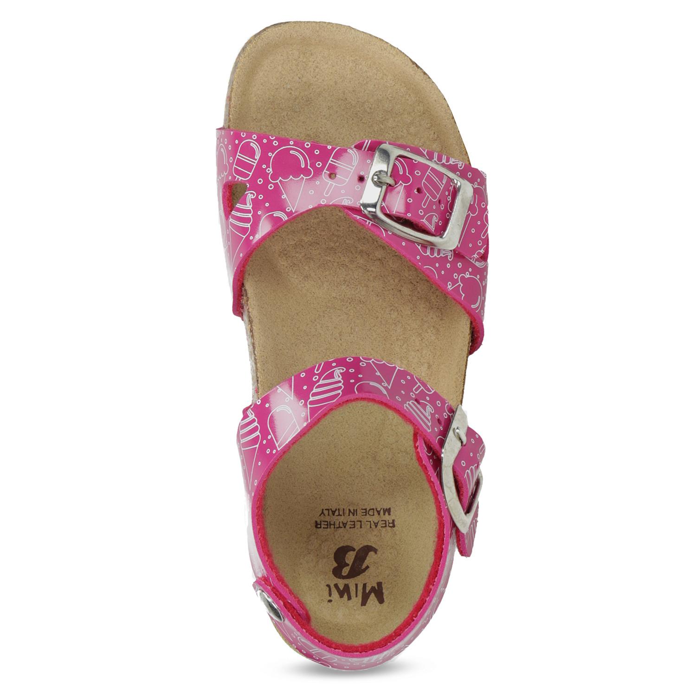 f8bacdcd1f1a Mini B Dievčenské ružové korkové sandále - Sandále