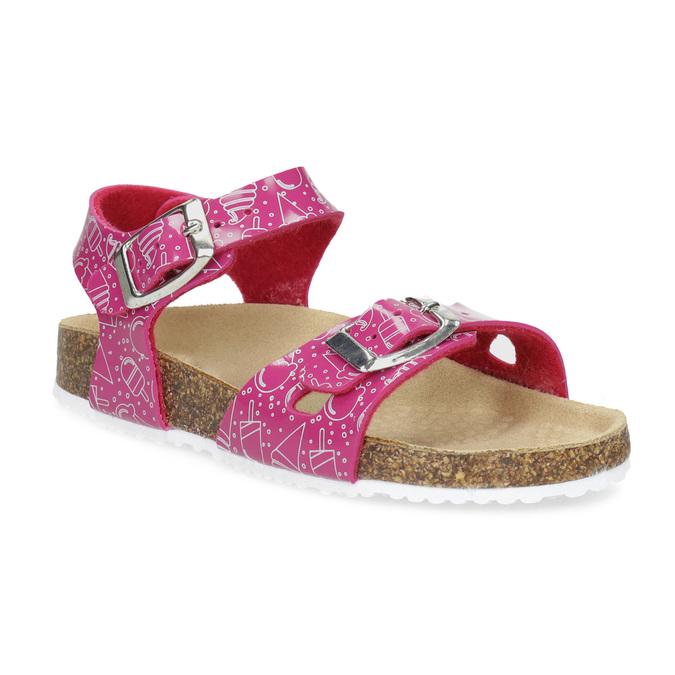 Dievčenské ružové korkové sandále mini-b, ružová, 261-5209 - 13