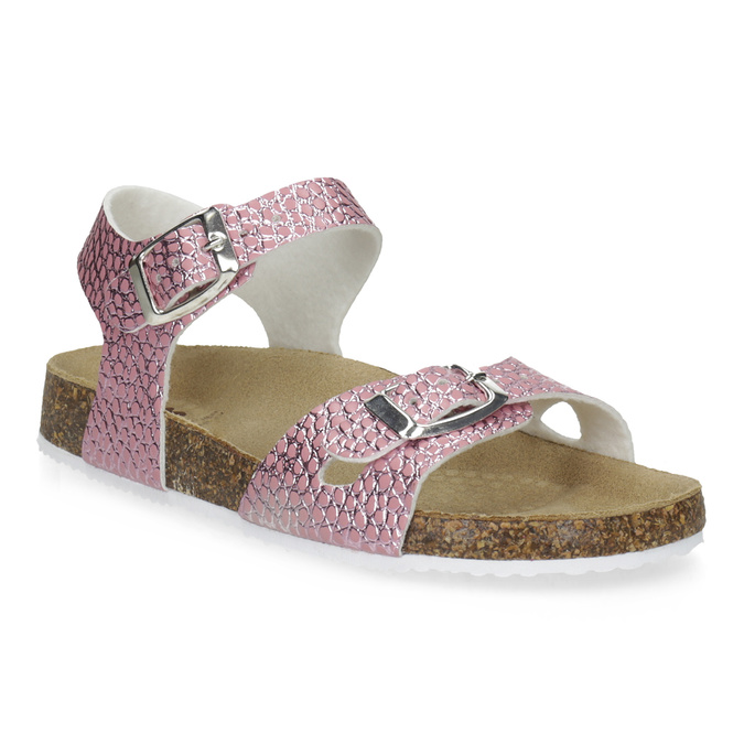 bf67c670a3ea Mini B Ružové korkové sandále - Sandále