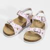 Dievčenské sandále s korkovou podrážkou mini-b, biela, 261-1212 - 16
