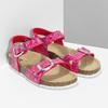 Dievčenské ružové korkové sandále mini-b, ružová, 261-5209 - 26