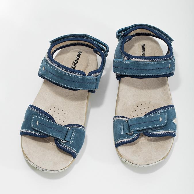 Kožené sandále v Outdoor štýle weinbrenner, modrá, 566-9608 - 16