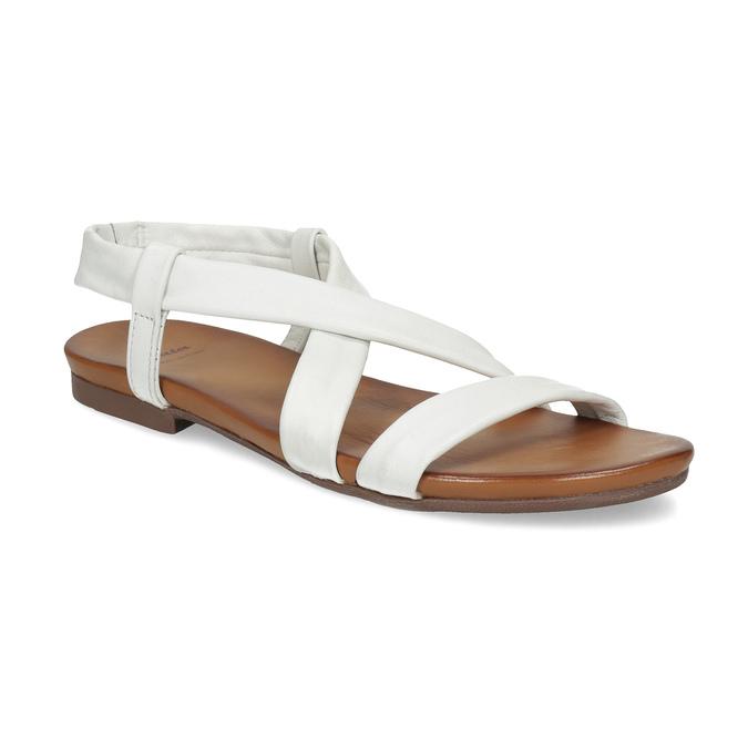 d370d21036ac Baťa Biele dámske kožené sandále - Najpredávanejšie