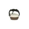 Čierne dámske žabky s prírodnými korálkami comfit, čierna, 561-6611 - 15