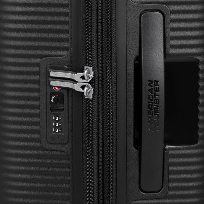 Čierny kufor s pevným obalom na kolieskach american-tourister, čierna, 960-6613 - 15