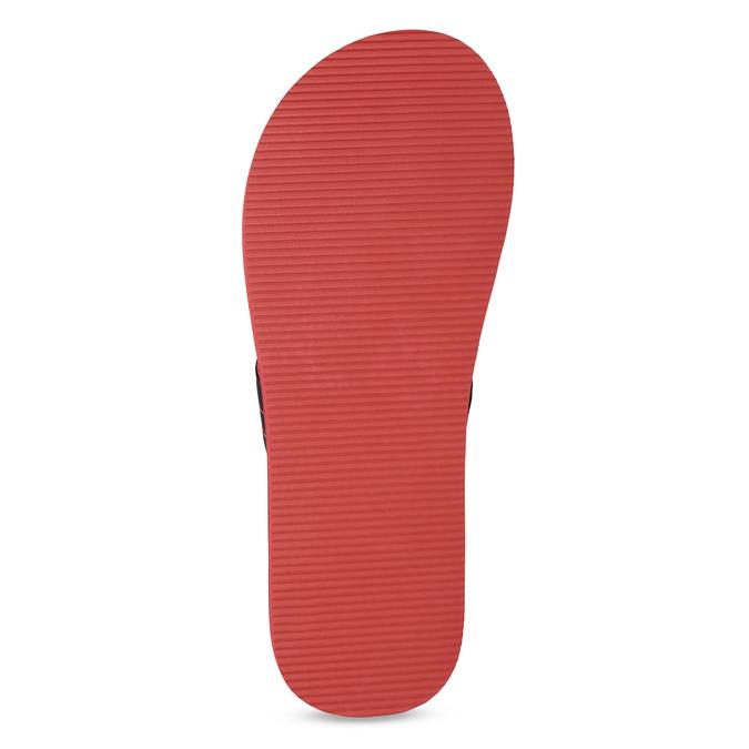 Pánske čierno-červené žabky pata-pata, červená, 879-9617 - 18