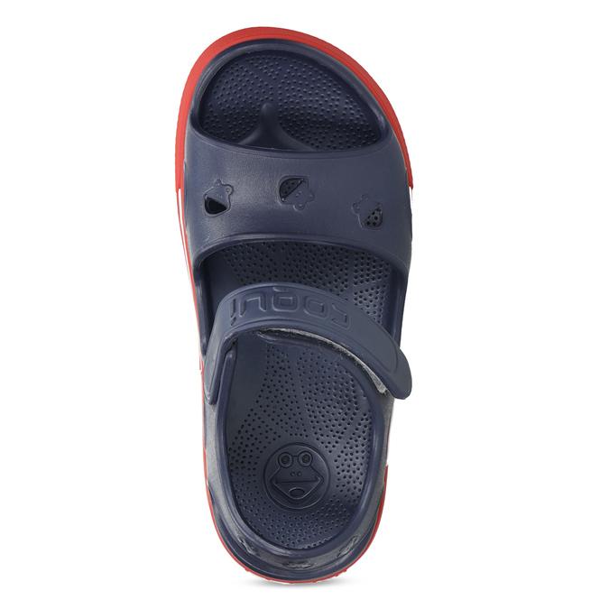 Detské tmavomodré sandále coqui, modrá, 372-9658 - 17
