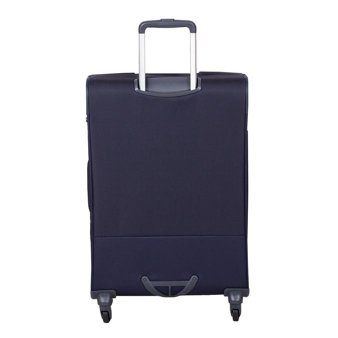 Tmavomodrý menší textilný kufor na kolieskach samsonite, modrá, 960-9040 - 26