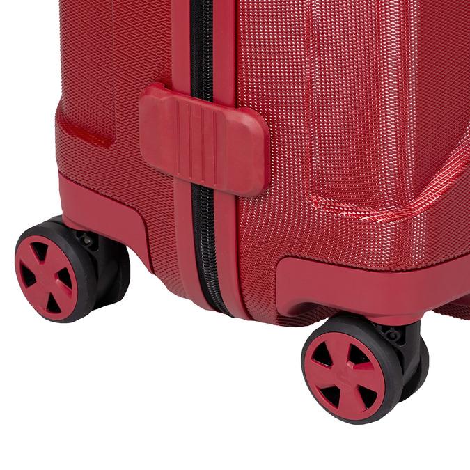 Veľký červený škrupinkový kufor na kolieskach roncato, červená, 960-5736 - 16
