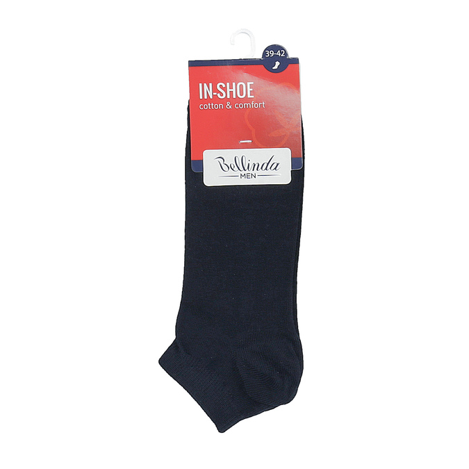Pánske bavlnené nízke ponožky čierne bellinda, modrá, 919-9817 - 13