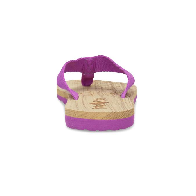 Dámske fialové žabky pata-pata, fialová, 579-5630 - 15