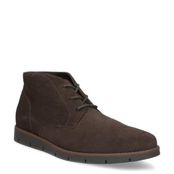 Pánska členková kožená hnedá obuv flexible, hnedá, 823-4632 - 13