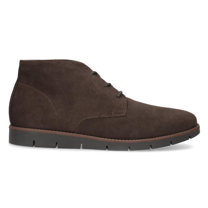 Pánska členková kožená hnedá obuv flexible, hnedá, 823-4632 - 19