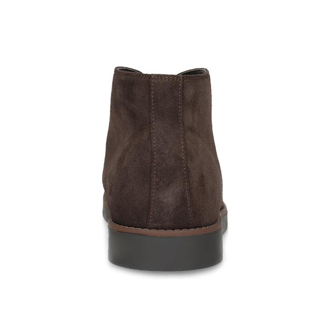 Pánska členková kožená hnedá obuv flexible, hnedá, 823-4632 - 15