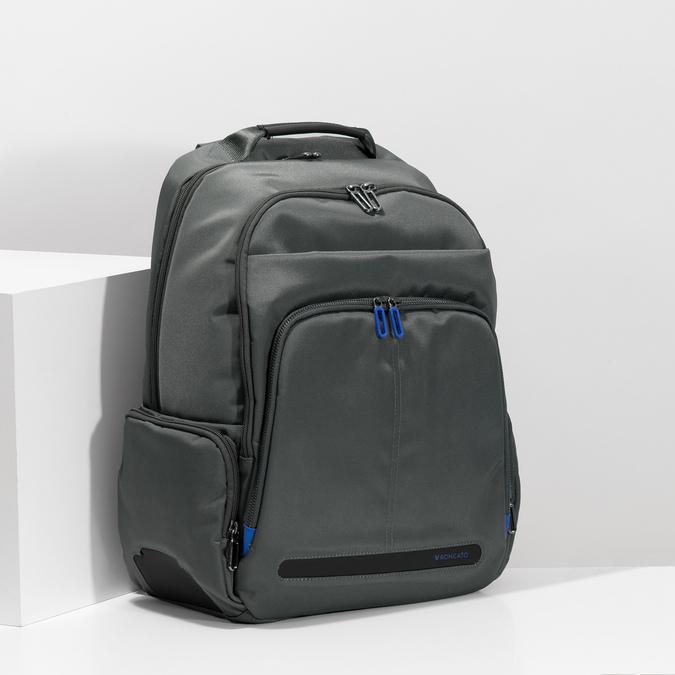 Šedý batoh s vreckom na notebook roncato, šedá, 969-2741 - 17