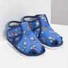 Členkové modré prezuvky so vzorom bata, modrá, 179-9212 - 26