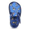 Členkové modré prezuvky so vzorom bata, modrá, 179-9212 - 17