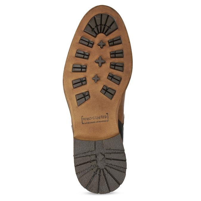 Hnedá členková kožená pánska obuv bata, hnedá, 826-3505 - 18
