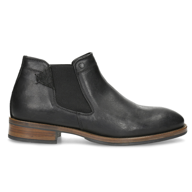 Pánske čierne Chelsea kožené bata, čierna, 826-6504 - 19